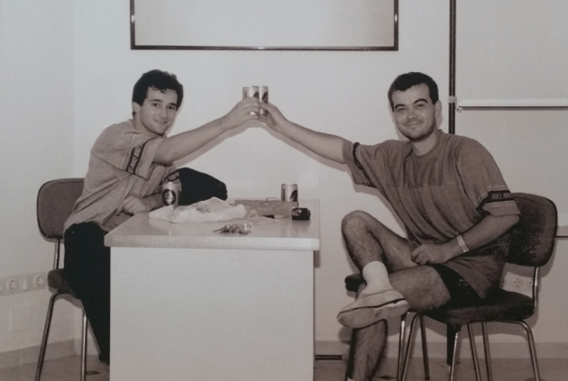 Isaac Cordón y Federico Izquierdo en Megasur, año 1986